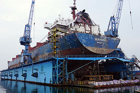 M/V SEAHOPE II at Floating Dock No. 3